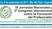 XI Jornadas nacionales y 2º Congreso Internacional sobre la Formación del Profesorado
